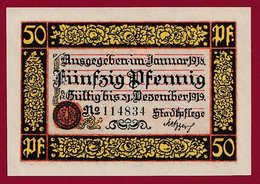 Allemagne 1 Notgeld 50 Pfenning Stadt Roffweil   (RARE) Dans L 'état N °4691 - Collections