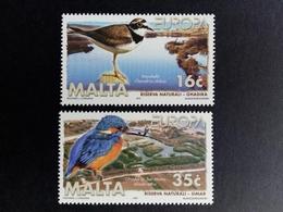 MALTA MI-NR. 1065-1066 ** EUROPA 1999 NATIONALPARKS EISVOGEL FLUSSREGENPFEIFER - 1999