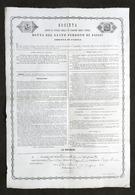 Documento Di Ammissione Nella Società Del Santo Perdono Di Assisi - Parma 1901 - Vecchi Documenti