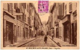 83 SAINT-MAXIMEIN-la-SAINTE-BAUME - Grand'Rue - Frankrijk