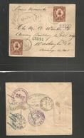 "HAITI. 1905 (20 Dec) Jacmel - USA, Washington (28-27 Dec) DC. Registered Multifkd Env Per ""Prins Mauritius"" Fine. - Haiti"