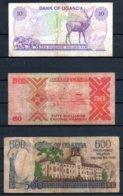329-Ouganda Lot De 3 Billets - Ouganda