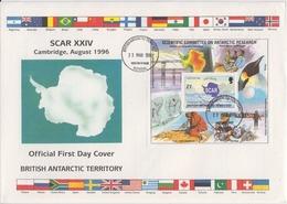 British Antarctic Territory (BAT) 1996 Scar  M/s FDC (F7983) - FDC