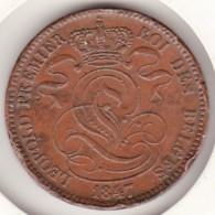 Belgique 10 Centimes 1847/37 Signature Sans Point , Léopold Premier - 1831-1865: Leopold I