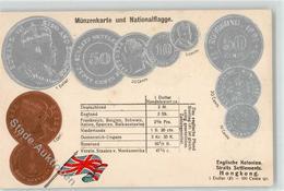 52331666 - Muenzenkarte Und Nationalflagge Englische Kolonien Hongkong - Monnaies (représentations)