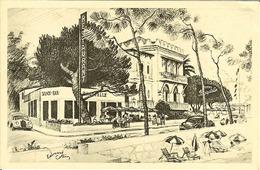 "CP De JUAN-les-PINS "" Hotel - Restaurant BAGATELLE "" - Antibes"
