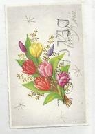 Mignonnette De Vœux. Bouquet De Tulipes. Dorée. - Nieuwjaar