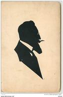 N°6967 - Carte Fantaisie - Silhouette - Homme Avec Une Barbe - Silhouettes