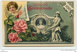 N°6984 - Carte Fantaisie - Représentation D'un Billet De Banque - Angelot - Monnaies (représentations)