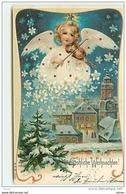 N°10136 - Carte Fantaisie - Fröhliche Weihnachten - Ange Jouant Du Violon - Other