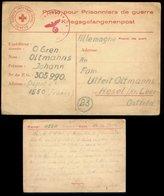 P0922 - DR Rotes Kreuz Kriegsgefangenenpost Postkarte Mit OKW Zensur: Gebraucht POW Camp 1550 Frankreich - Hesel 11.12 - Allemagne