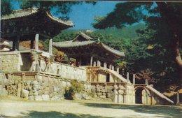 Korea PPC B No. 7  Pool-kuk-sa Temple, Kyongju Photo By IPL Korea Publ. Korea Tourist Bureau (2 Scans) - Korea (Süd)