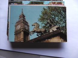 Engeland England London Big Ben And Boadicea - Londen
