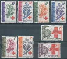 NB - [301713]TB//-Congo République 1963, Croix Rouge, Red Cross Et Plantes Médicinales - Croce Rossa