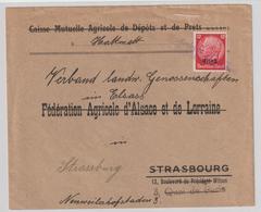 Dt. Besetzung Elsaß; Firmenbrief Mit Notstempel Dossenheim - Besetzungen 1938-45