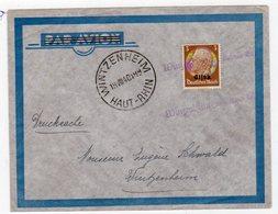 Drucksache Mit Notstempel Wintzenheim - Besetzungen 1938-45