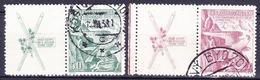 Tchécoslovaquie 1938 Mi 387-8 Zf (Yv 333-4 Avec Vignettes), Obliteré - Used Stamps