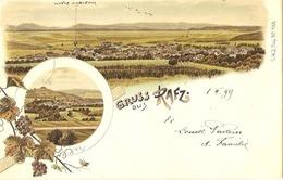 GRUSS  Aus  RAFZ   ( 2 SCANS ) 1899 - ZH Zurich