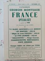 Catalogue George Monteaux France Spécialisée à Paris De 1900 - France