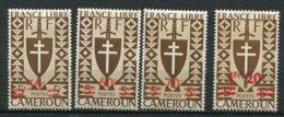 CAME - Yt. N° 266 à 269  *  Série De Londres Surchargés  Cote  2,7  Euro  BE   2 Scans - Cameroun (1915-1959)