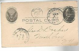 52953 ) USA Postal Stationery Crooksville Troy Postmarks 1905 - Interi Postali