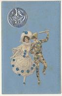 ART NOUVEAU Pierrot Et Arlequin  Lune Gaufrée - Illustratori & Fotografie