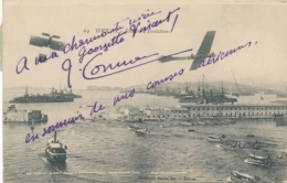 """J. CONNEAU  - Texte EtSignature AUTOGRAPHE Sur CP """" TOULON - Escadres D'Evolutions """" Var - Pionnier Aviation - Flieger"""