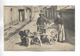 80 - AULT-ONIVAL - Un Marchand De Poissons - Attelage De Chiens - BEAU PLAN - France