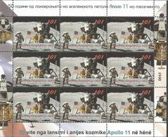 MK 2019-07 50A°.APPOLLO 11, MS, MNH - Mazedonien