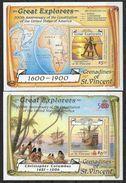 1988 SAINT-VINCENT GRENADINES  BF 23-23A  ** Navigateurs , Carte, Bateaux, Santa Maria - St.Vincent & Grenadines