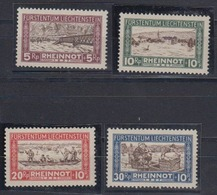 Liechtenstein 1928 Rheinnot 4v ** Mnh (44587) - Ongebruikt
