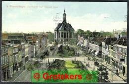 DEN HAAG Turfmarkt Met Nieuwe Kerk 1909 Continuerend Machinestempel (Krag) 7 Lijnen - Den Haag ('s-Gravenhage)