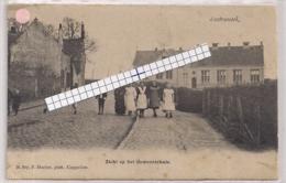 """AUSTRUWEEL-OOSTERWEEL-ANTWERPEN """"ZICHT OP HET GEMEENTEHUIS-STRAATZICHT""""HOELEN 807 UITGIFTE 05.5.1903 TYPE 2 - Antwerpen"""