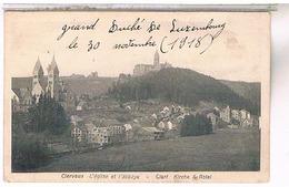 LUXEMBOURG Clervaux L Eglise Et L Abbaye 1918  Lu56 - Clervaux