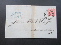 DR Pfennige 1877 Nr. 33 EF Stempel K1 Leipzig 2 Firmenbrief Mit Tollem Inhalt Petroleumfässer Philipp Nagel Leipzig - Germany