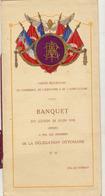 Menu Comité Republicain Commerce ... Banquet Délégation Ottomane Ottoman Au Palais D'orsay - Menus