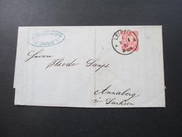 DR Pfennige 1877 Nr. 33 EF Stempel K1 Leipzig 1 Firmenbrief Mit Gedrucktem Inhalt! Joachim Christian Lücke Leipzig - Allemagne