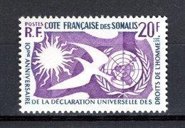 COTE DES SOMALIS  N° 291  NEUF SANS CHARNIERE COTE 2.50€  DROITS DE L'HOMME - Unused Stamps