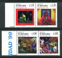 El Salvador 1527-1528 Christmas 1999 Comp Set Mnh - El Salvador