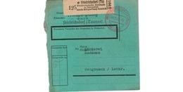 Allemagne  -  Colis Postal  - De Saarbrucken 2 -  28/1/1943 - Allemagne