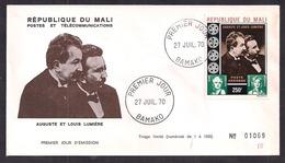 Republique Du Mali - 1970 - FDC - Ausguste Et Louis Lumiere - Tirage Limité Nº 1069 - Cinema