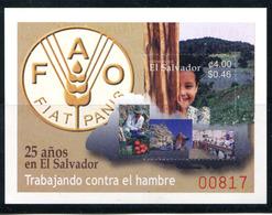 El Salvador 1586 FAO In El Salvador.  Mnh  Souv Sheet - El Salvador