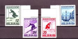 AUSTRIA AUTRICHE AUSTRIAN 1936 CAMPIONATI SCI 4 VAL Compl.  MNH** - Nuovi