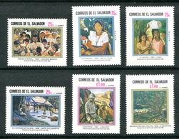 El Salvador C529-C534   Paintings    Mnh  Comp Set - El Salvador