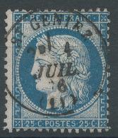 Lot N°50279  N°60, Oblit Cachet àdate De St-Geniez, Aveyron (11), Ind 4 - 1871-1875 Cérès