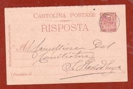 CARTOLINA POSTALE 7 1/2  (mill.03 ) RISPOSTA  DALL'ESTERO : MARSEILLE MARSIGLIA - 1900-44 Victor Emmanuel III