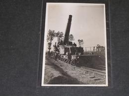 CANON SUR RAIL - SOLDATS EN UNIFORME FRANCAIS - Oorlog 1914-18