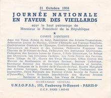 VIGNETTES , JOURNEE NATIONALE EN FAVEUR DES VIEILLARDS((( C'est Pour Moi ,ha Ha Ha )))((lot 488 )) - Erinnophilie