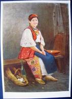 Portrait D'une Jeune Fille Ukrainienne Du Siècle Dernier. Peintre Pimonenko. - Paintings