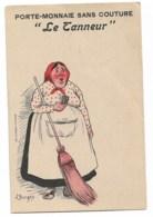 """Porte Monnaie Sans Couture  """"le Tanneur""""  Illustré Par BORGEX - Pubblicitari"""